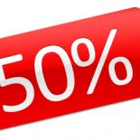 Allahindlus -50%