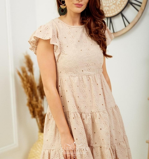 Kvaliteetne kleit voodriga (100% puuvill)