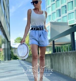 Lühikesed teksapüksid vööga (D602#)