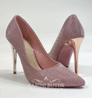 Sädeleva kangaga kingad