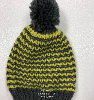 Müts, hall kollasega